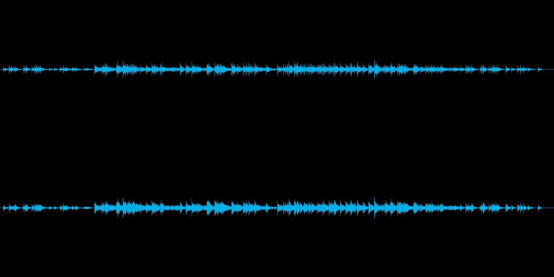 やさしいオルゴールの響きの再生済みの波形