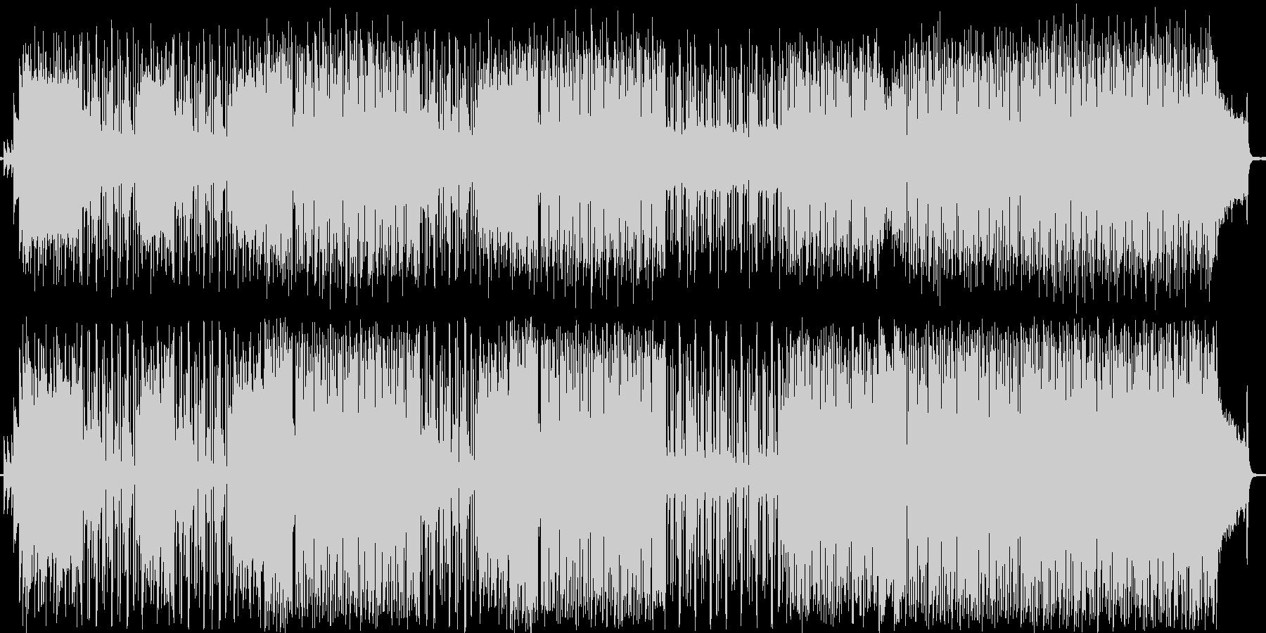 ロック風の曲です。の未再生の波形