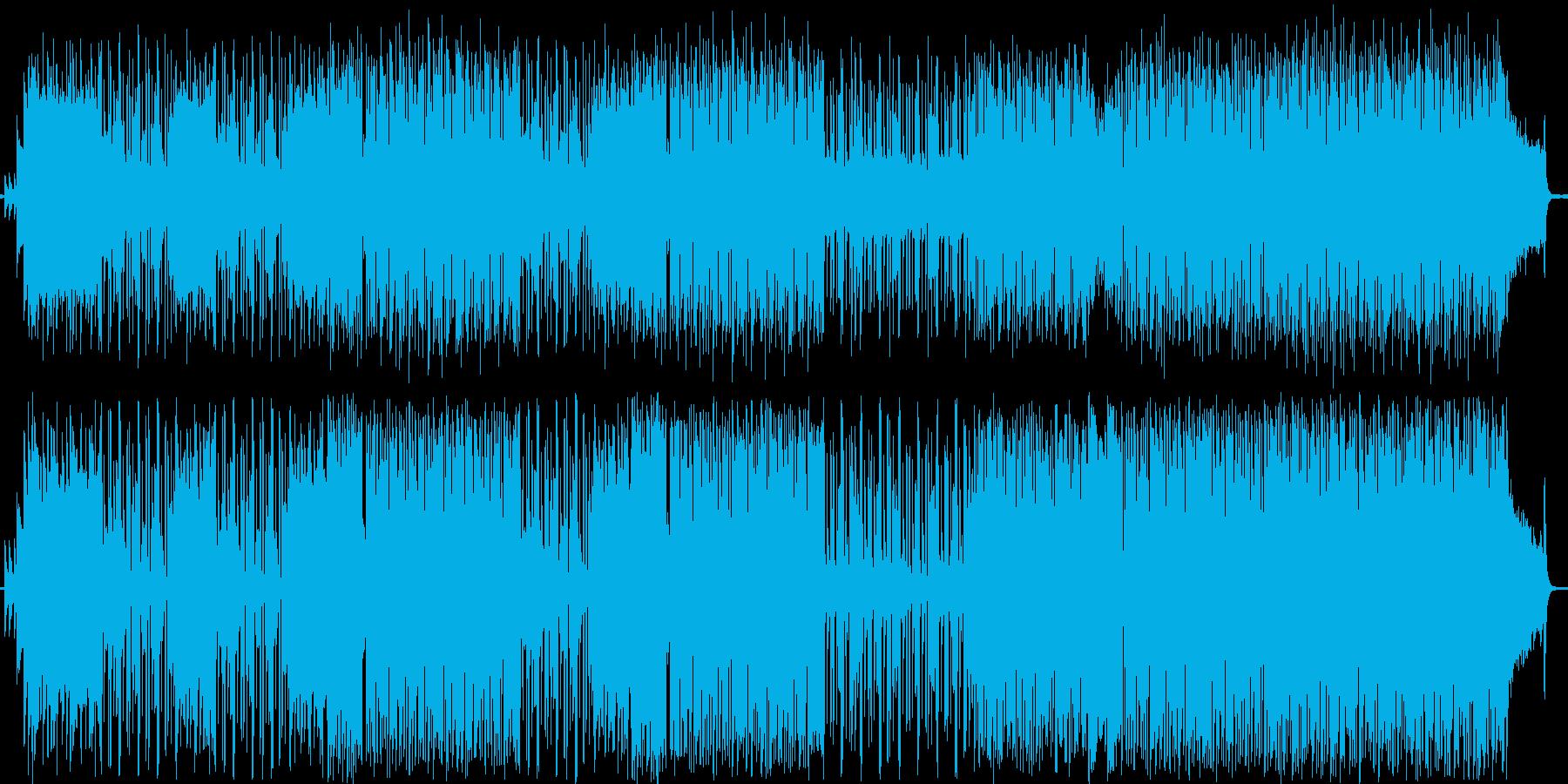 ロック風の曲です。の再生済みの波形