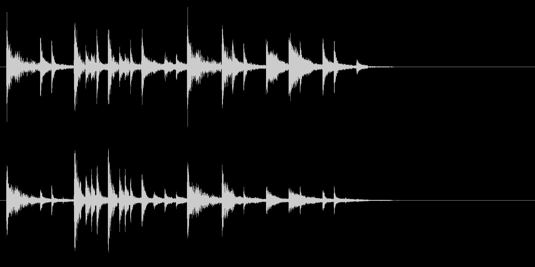 リズミカルな転換音 ドンチカチャリーンの未再生の波形