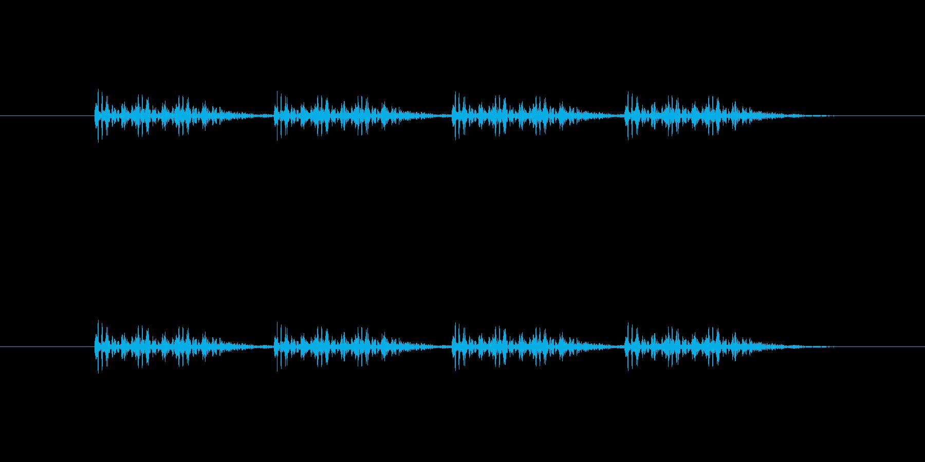 連射系の銃声(三点バースト)の再生済みの波形
