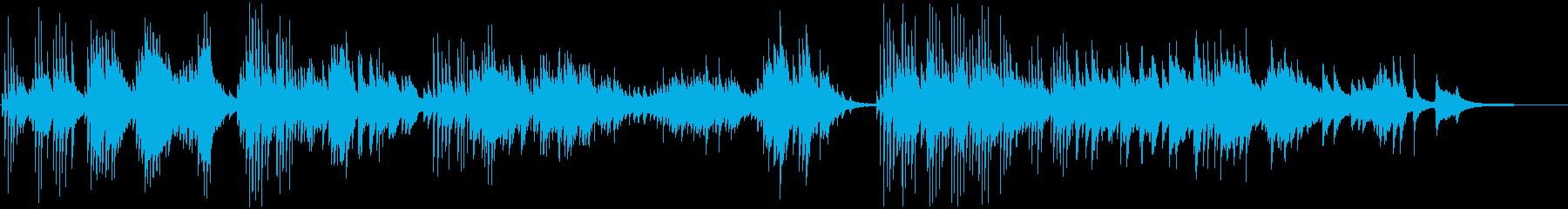 クラシックのピアノ演奏の悲しめの曲の再生済みの波形