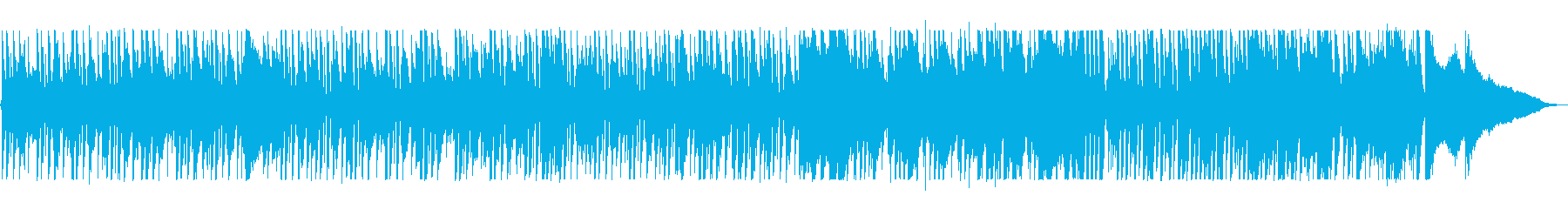 スローテンポのピアノジャズの曲の再生済みの波形