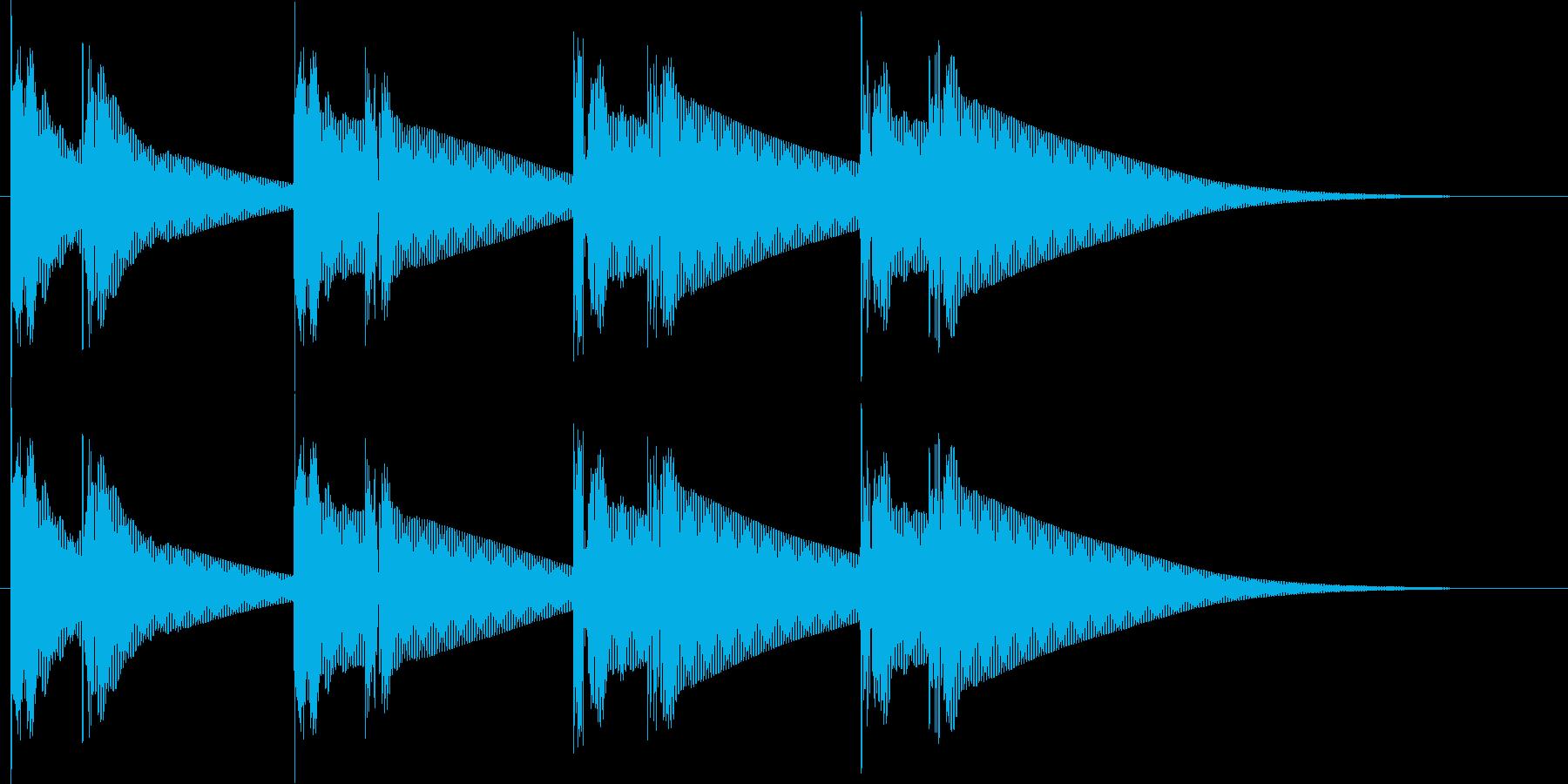 ドゥグドゥグ.。心臓の音G(ウネリ・長)の再生済みの波形
