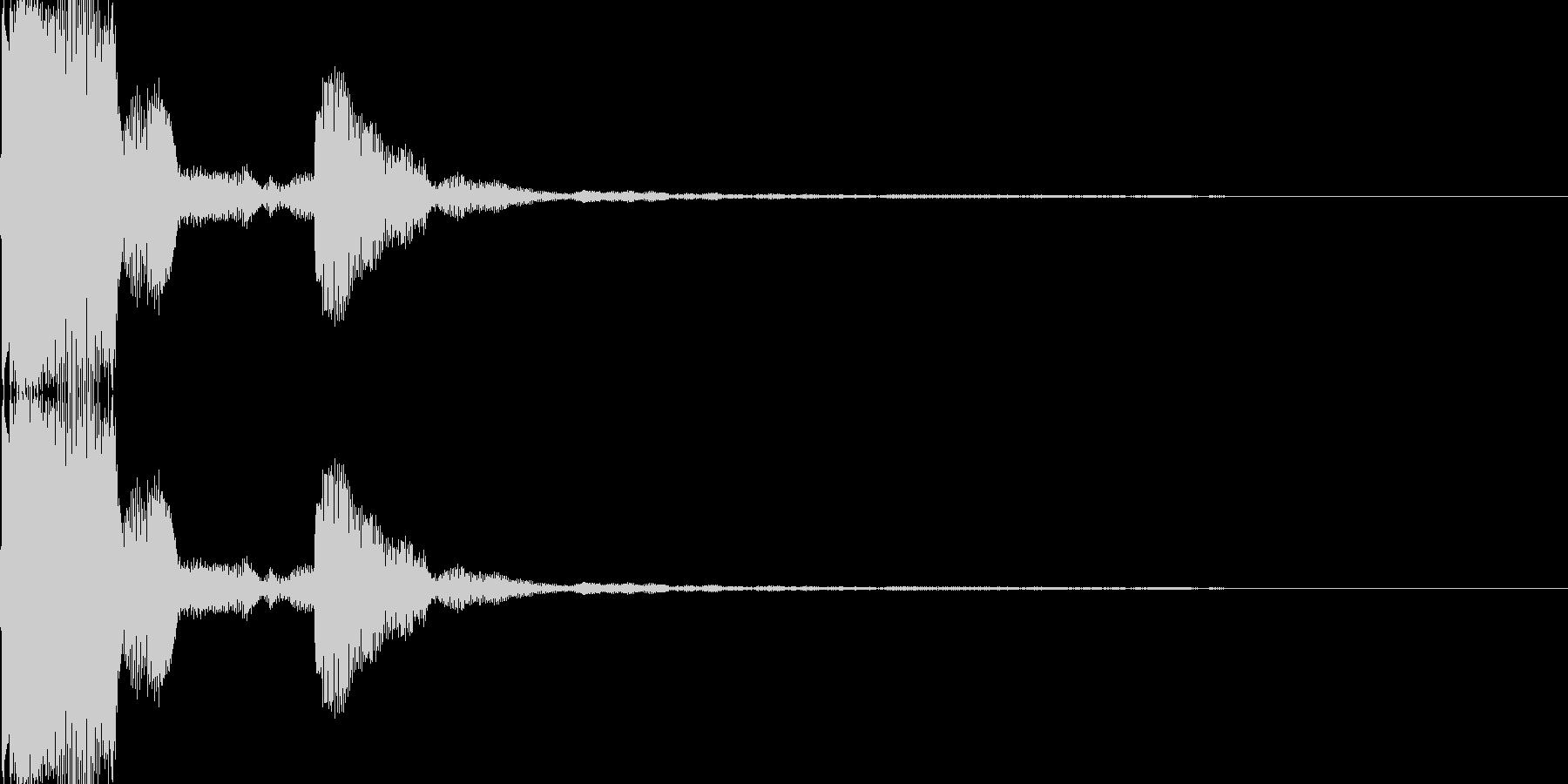 電子音(ピッ)の未再生の波形