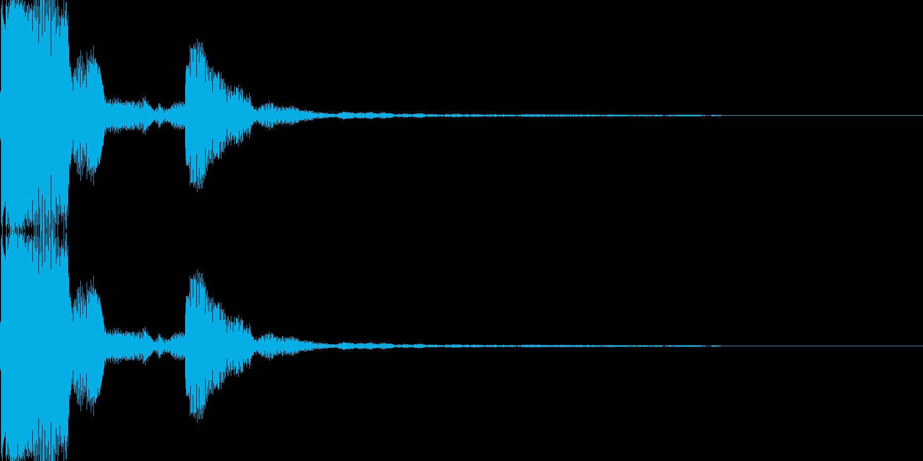 電子音(ピッ)の再生済みの波形