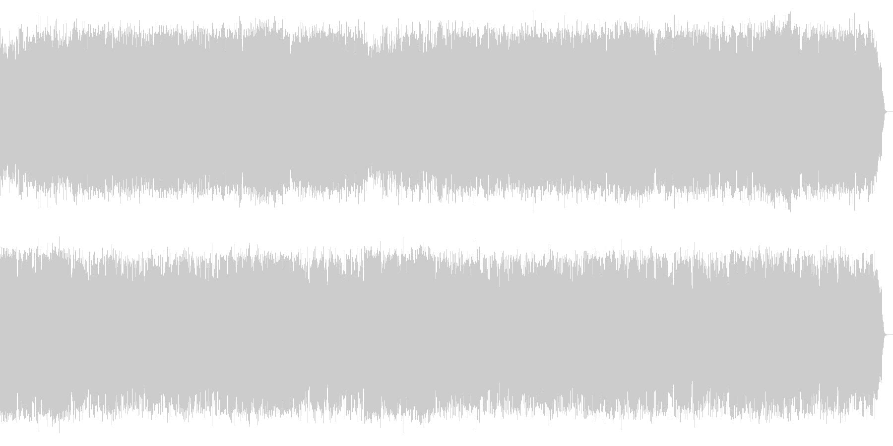 SAXほっこりする温かい曲風の未再生の波形