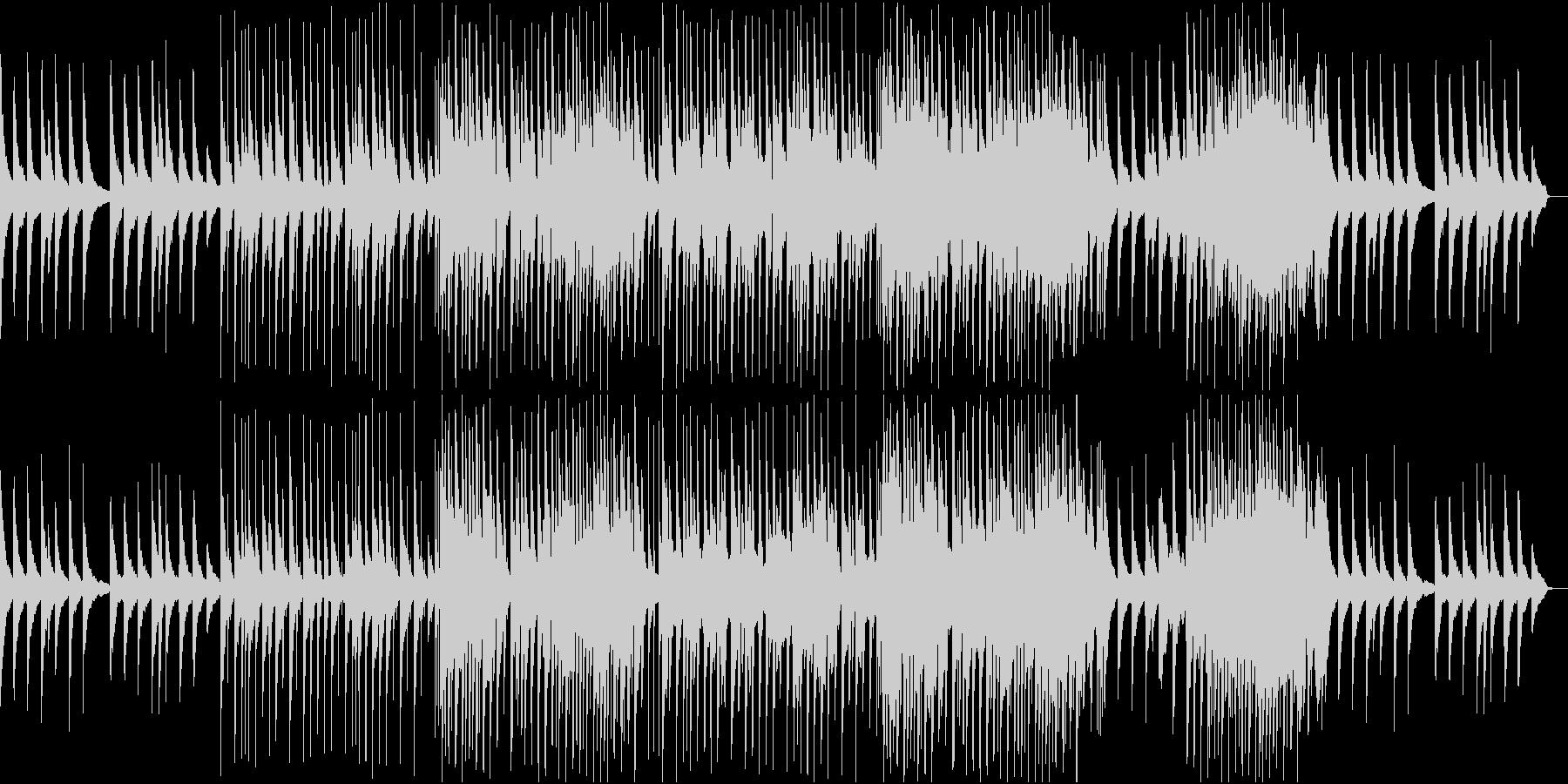卒業式のBGM。ピアノとアコギとオルガンの未再生の波形