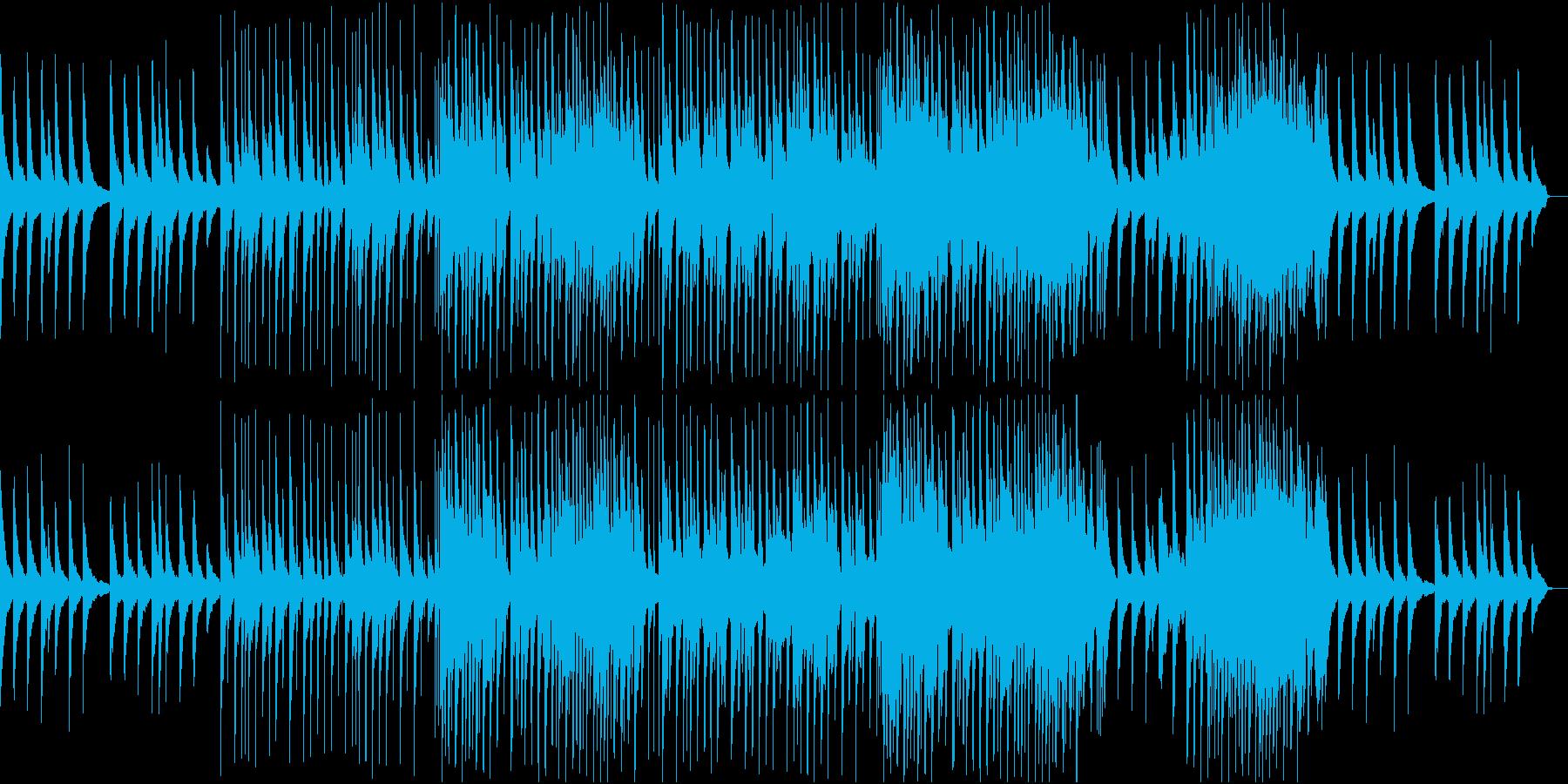 卒業式のBGM。ピアノとアコギとオルガンの再生済みの波形