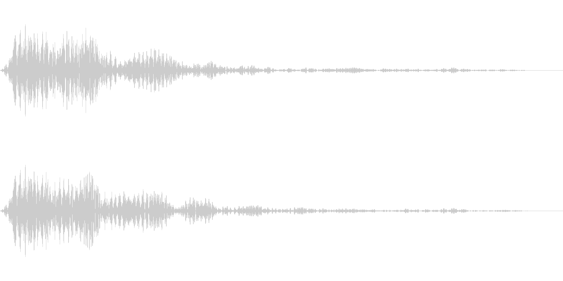 ホワッという音です。画面クローズなどにの未再生の波形