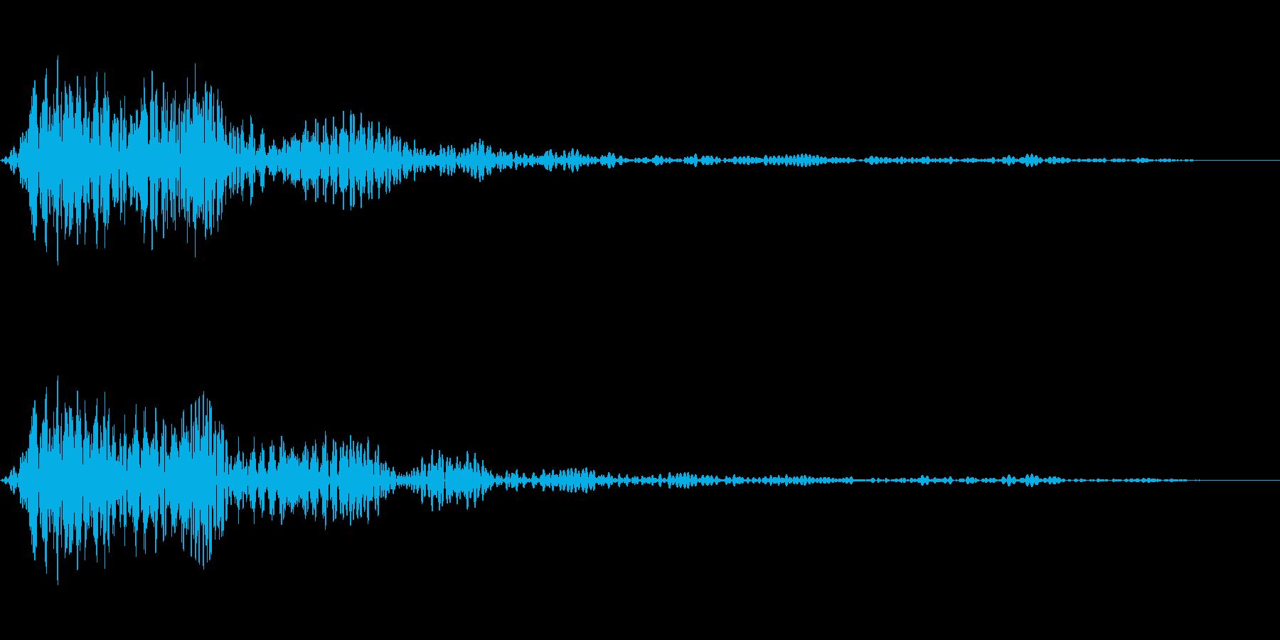 ホワッという音です。画面クローズなどにの再生済みの波形
