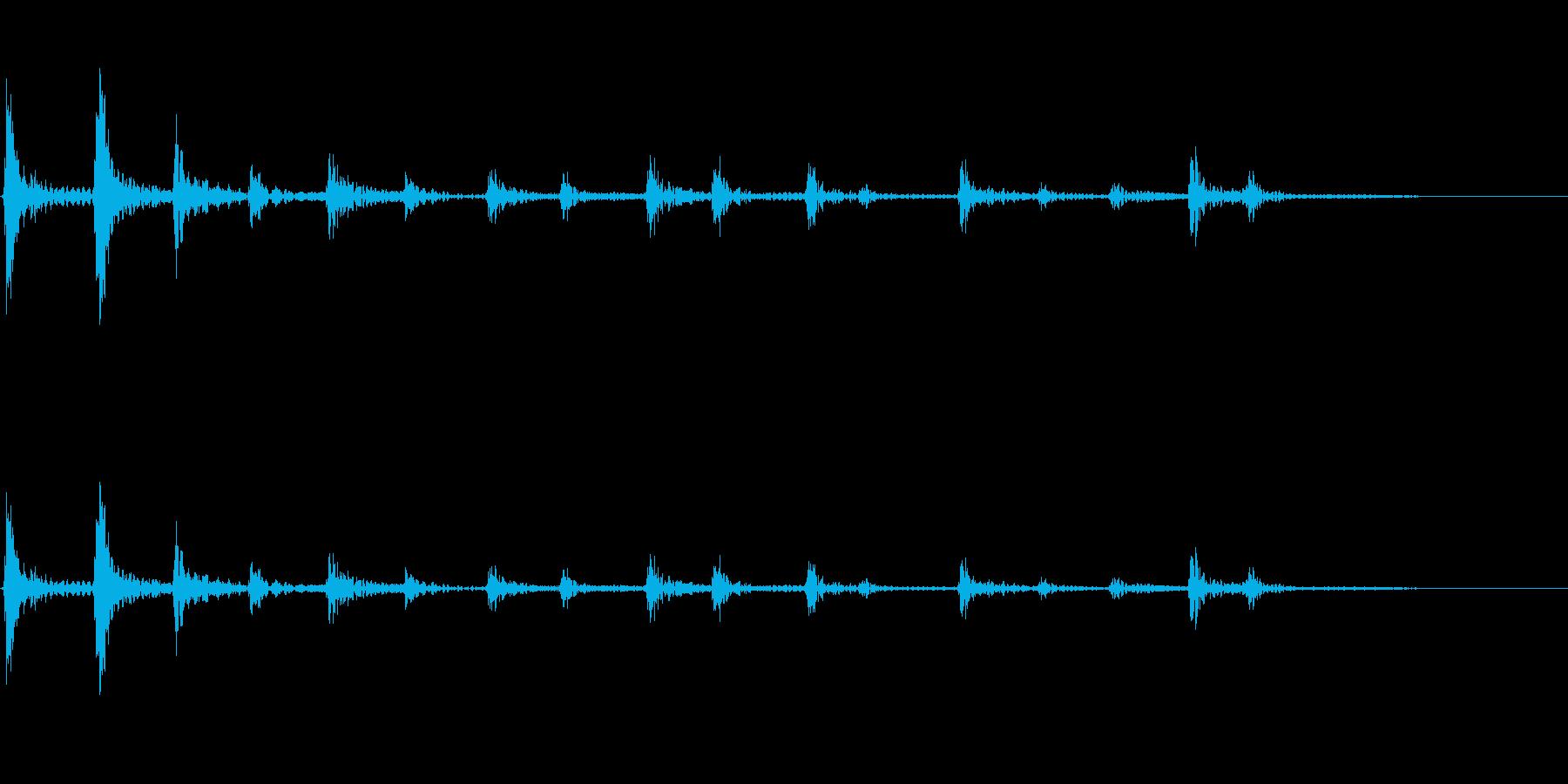 【SE 効果音】パーカッションの再生済みの波形
