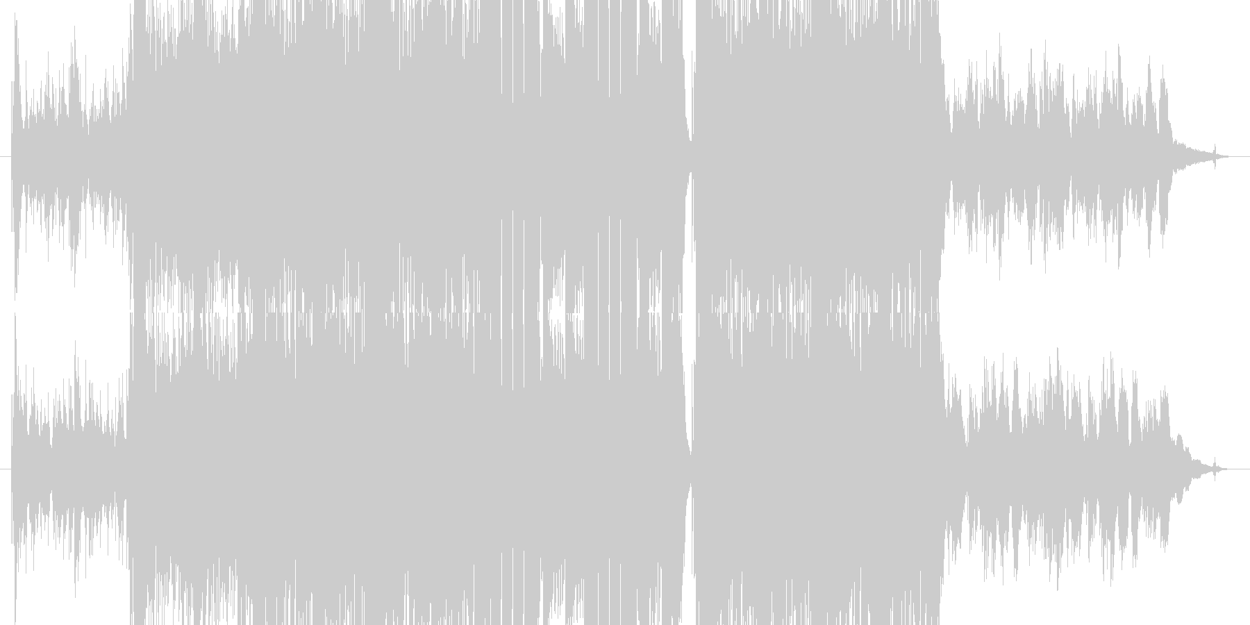 始まりを予感させる軽快なポストロックの未再生の波形