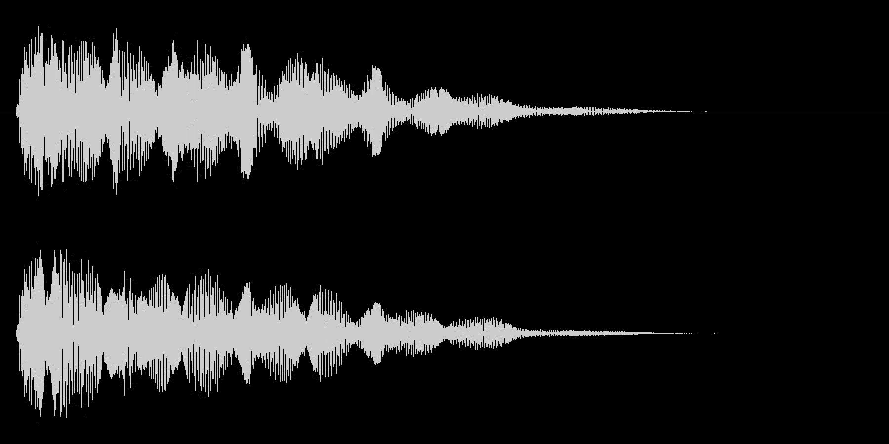 ピポポポ(電波の音)の未再生の波形