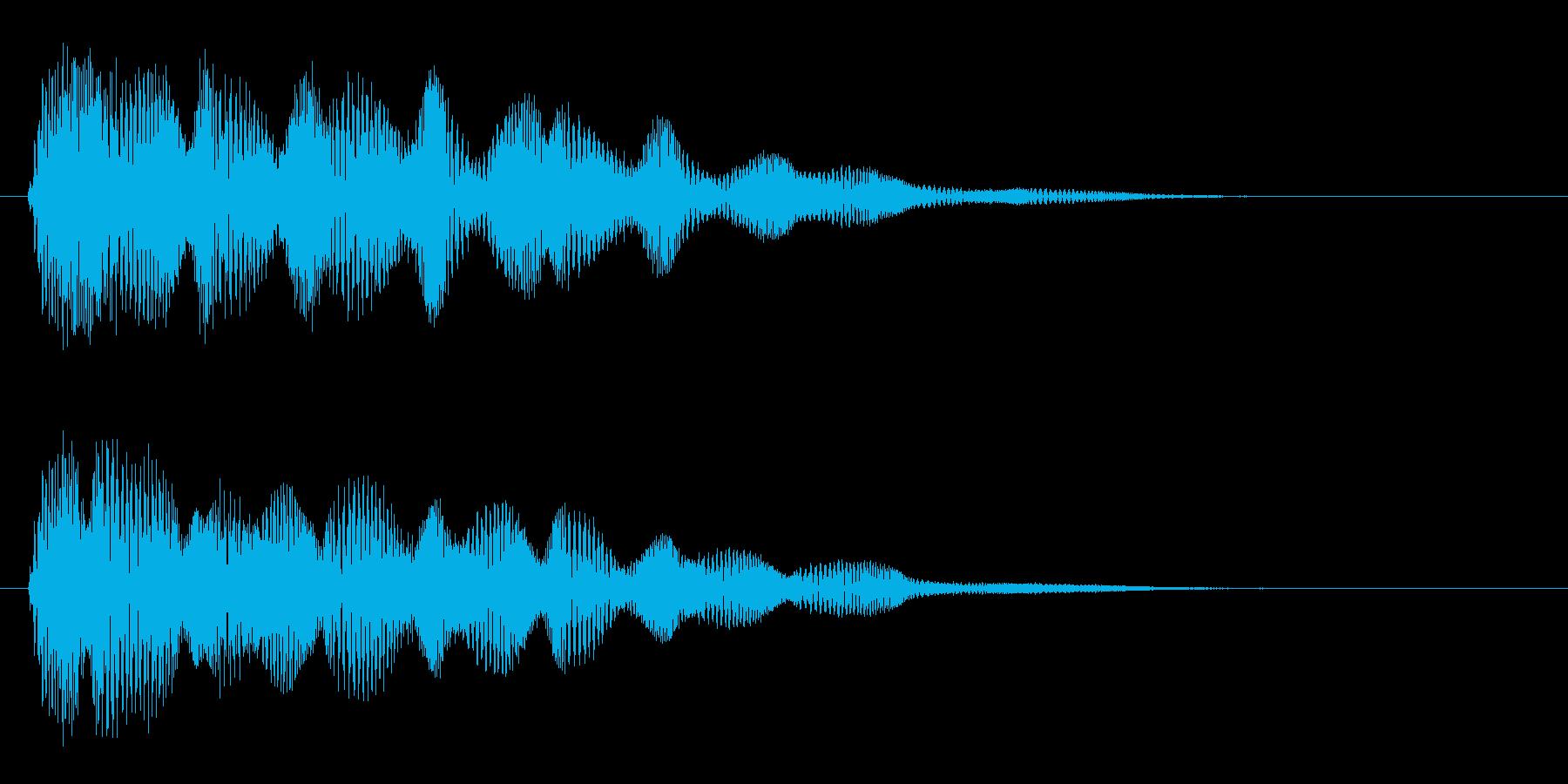 ピポポポ(電波の音)の再生済みの波形