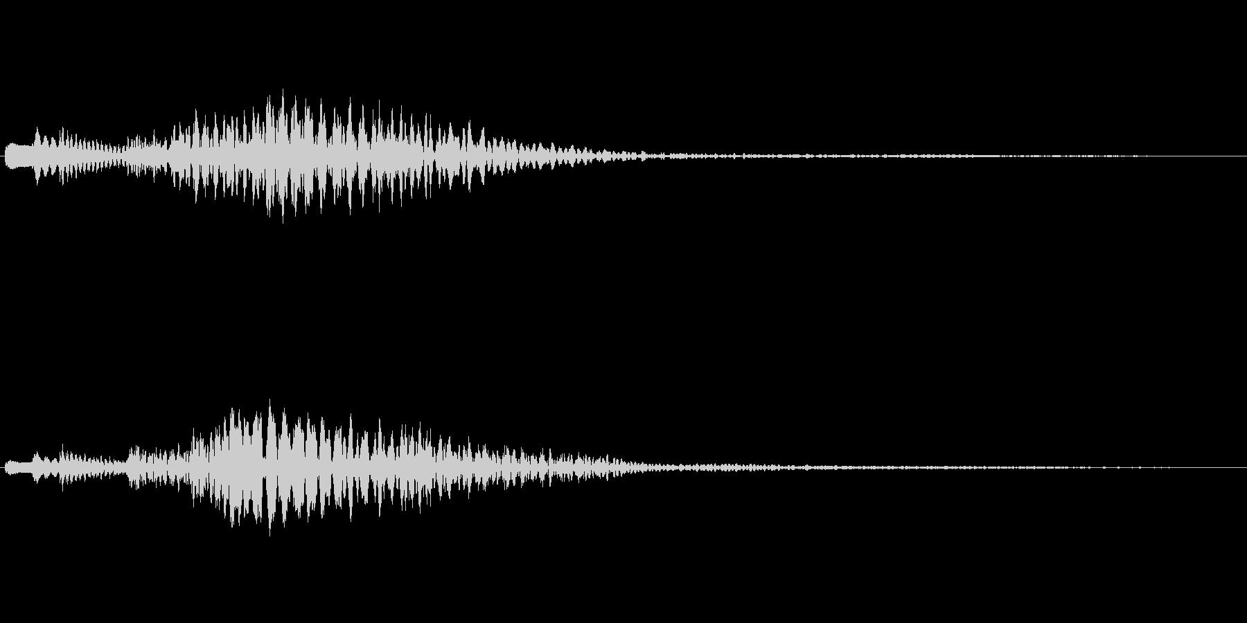 ハープの下降フレーズ(豪華な場面転換)の未再生の波形