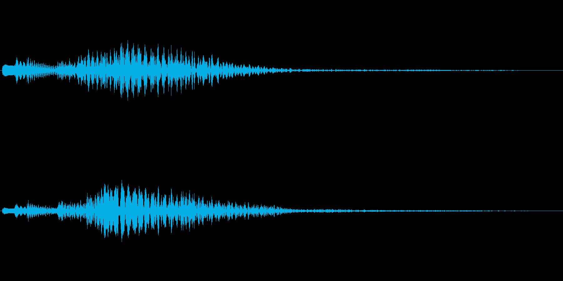 ハープの下降フレーズ(豪華な場面転換)の再生済みの波形