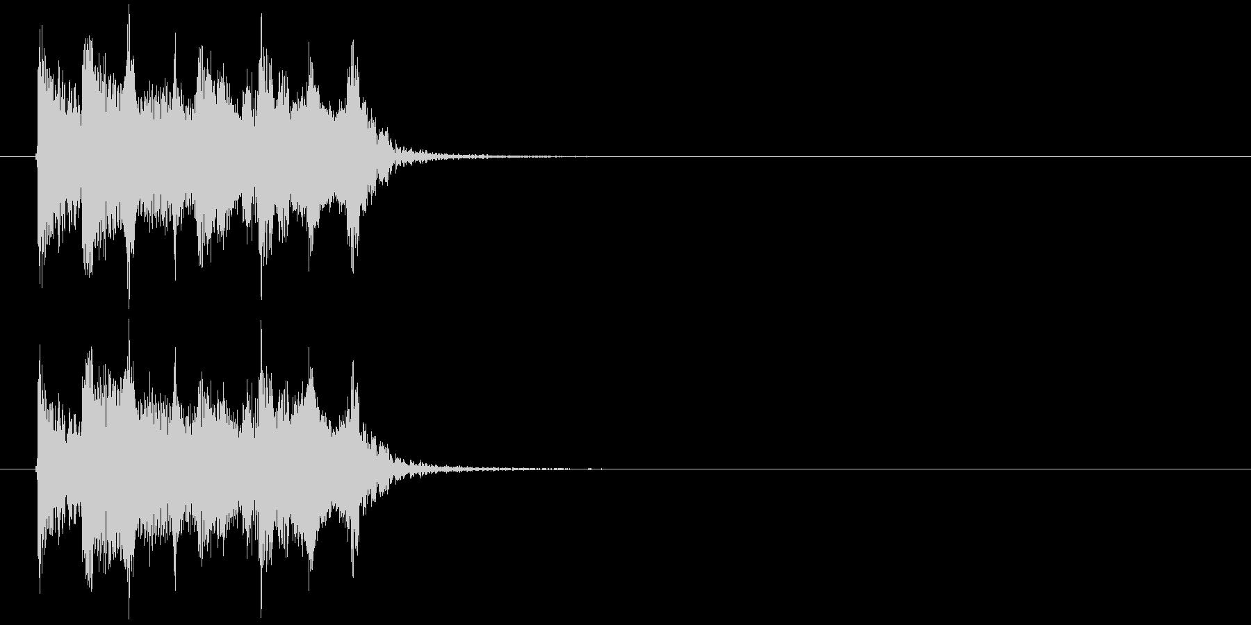 不思議でリズミカルなピアノシンセジングルの未再生の波形