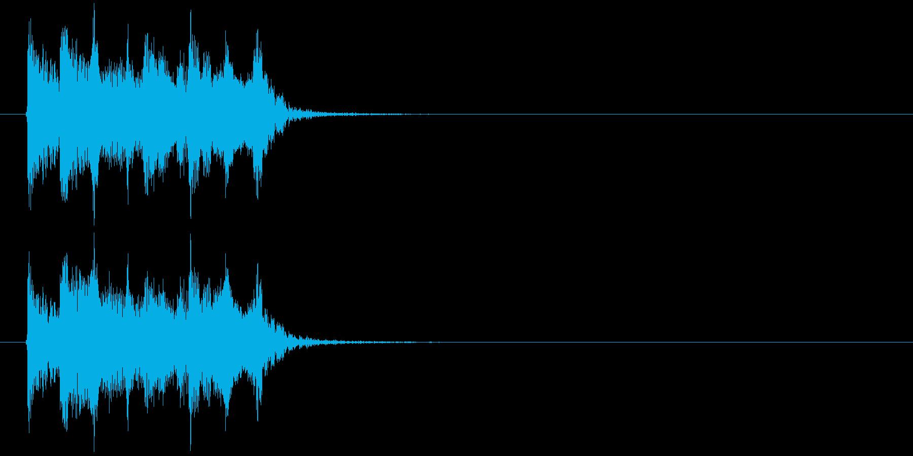 不思議でリズミカルなピアノシンセジングルの再生済みの波形