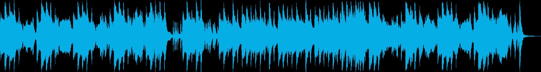 忍び込むシーンのコミカル曲の再生済みの波形