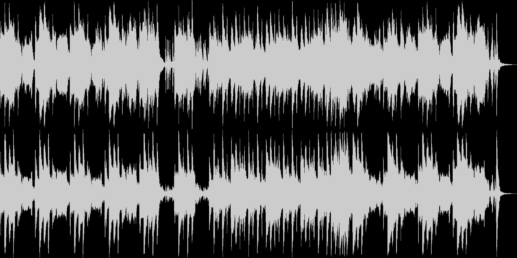 忍び込むシーンのコミカル曲の未再生の波形