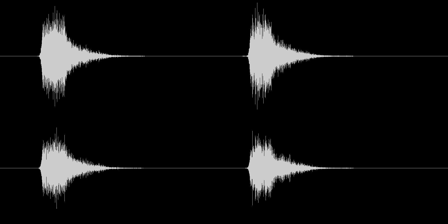 スプレーを噴きかける2の未再生の波形