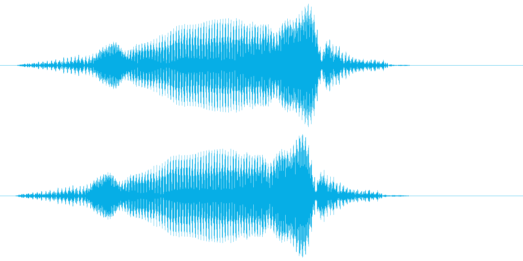 ロボットのよーいデジタル音声の再生済みの波形