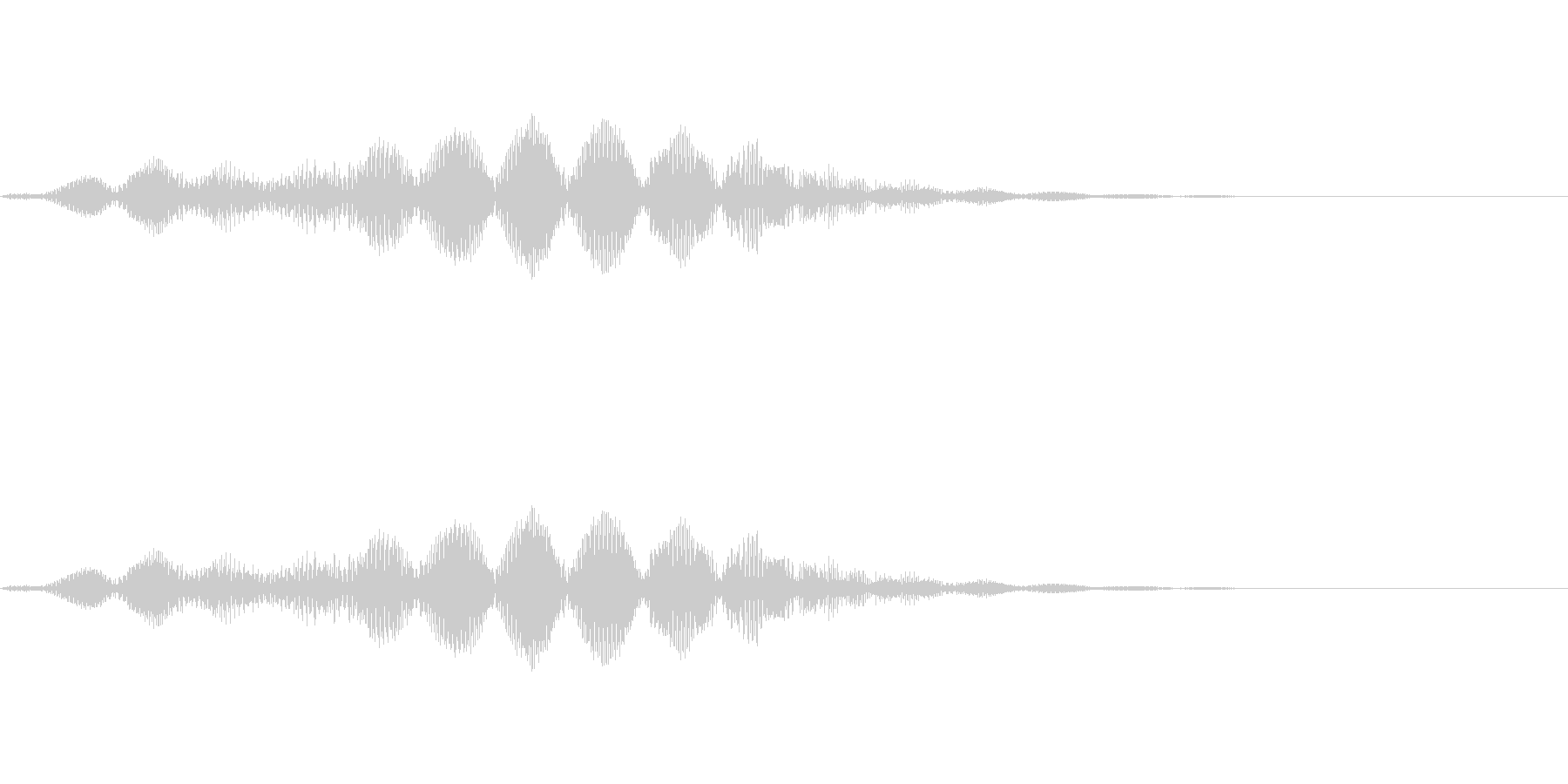恐怖音01(低音)の未再生の波形
