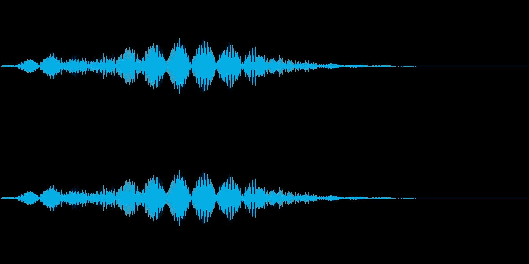 恐怖音01(低音)の再生済みの波形