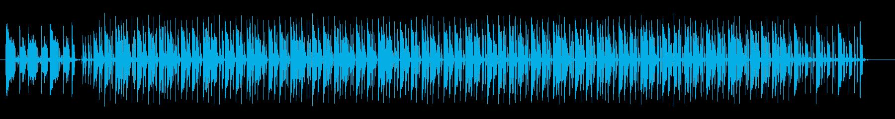 躍動感とグルーブ感漂うDJミュージックの再生済みの波形