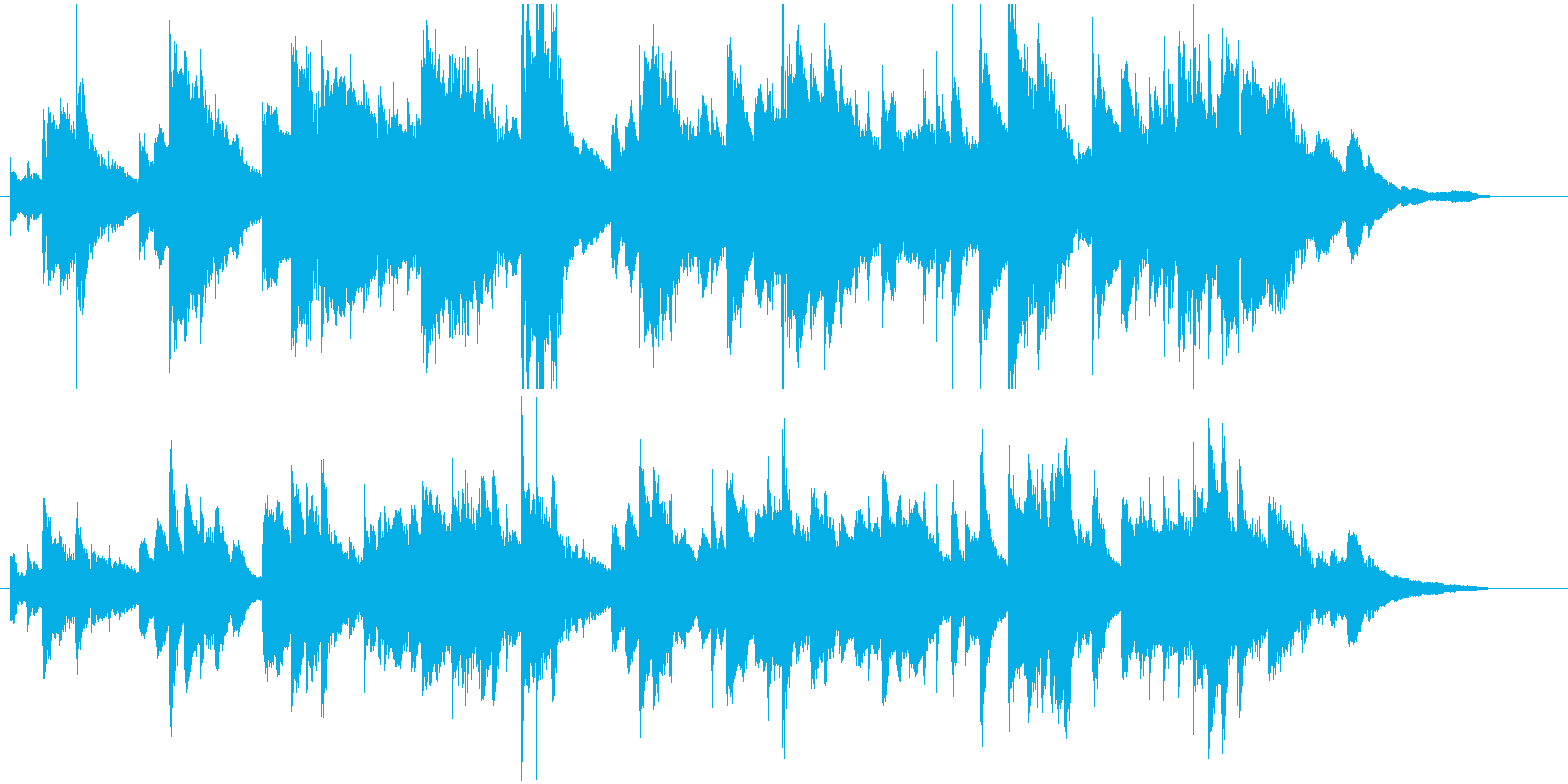ぬくもりを感じるピアノソロの再生済みの波形