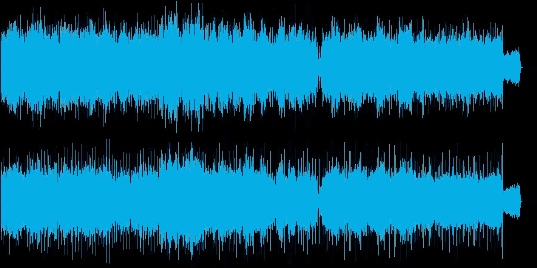 優しい尺八の音色と壮大なストリングスの曲の再生済みの波形