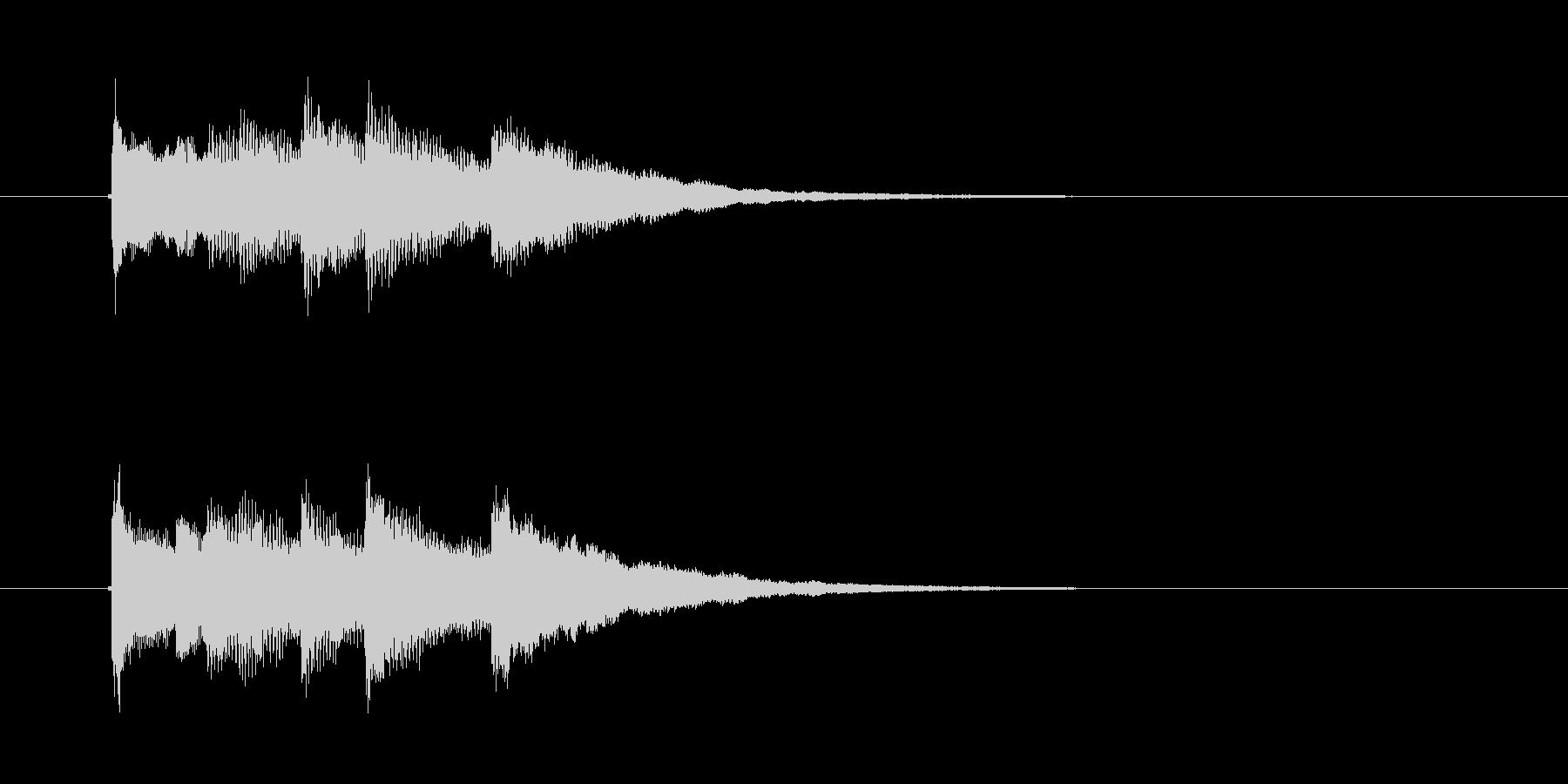 シャンララランランラン ラン(終了音)の未再生の波形