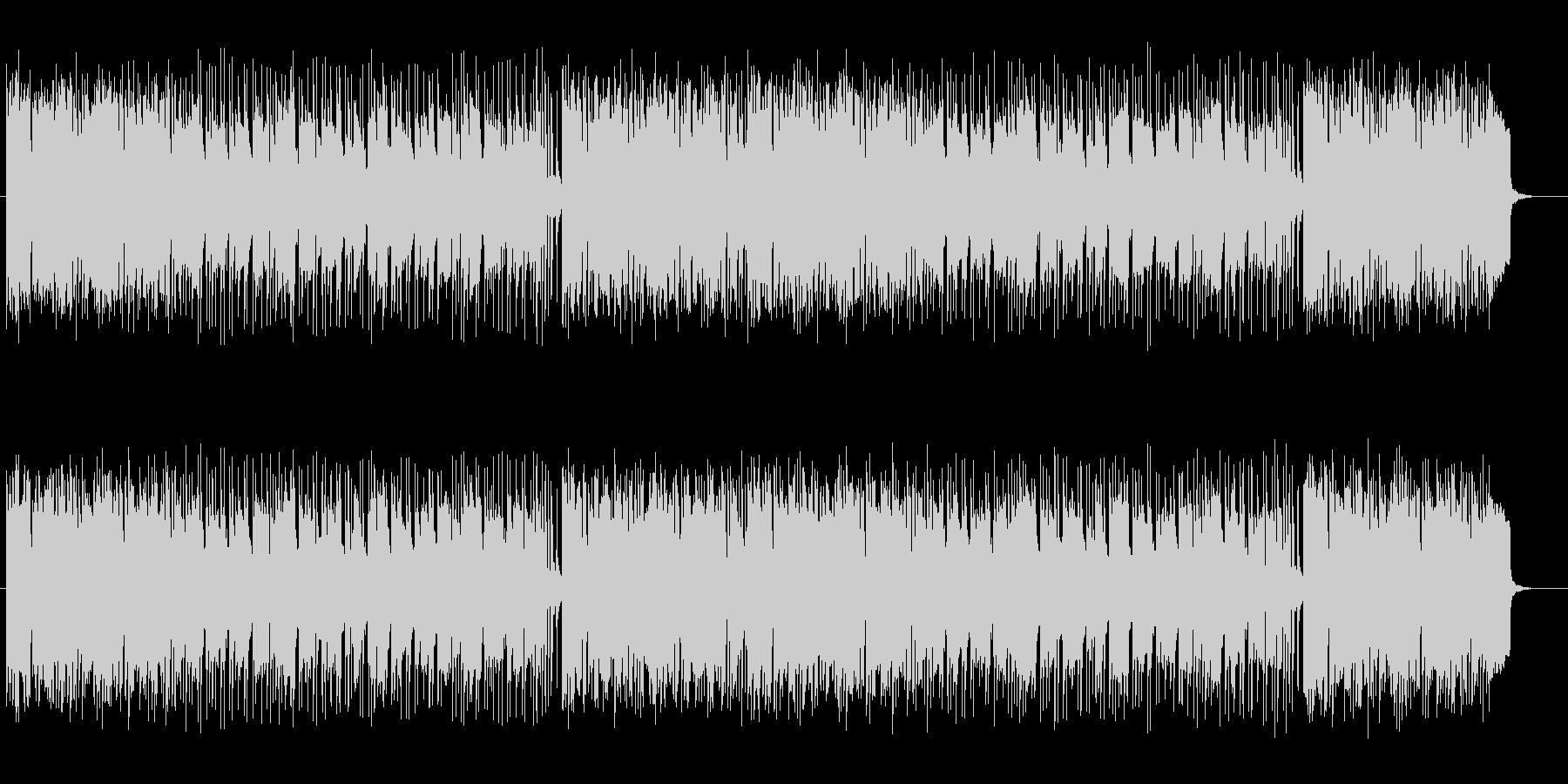 明るいアップテンポのシンセサイザーの曲の未再生の波形