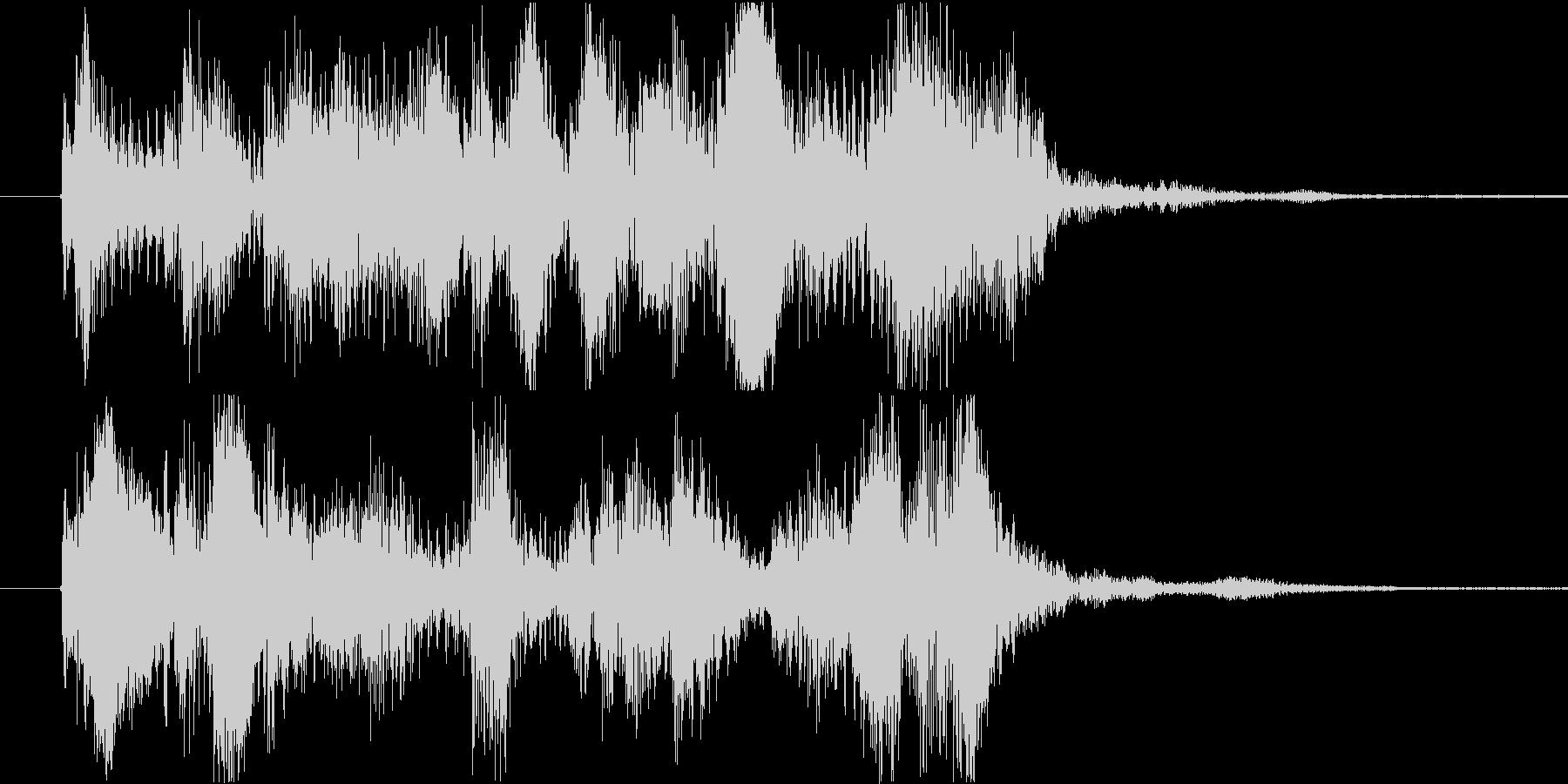 ジングル ゲームクリアの未再生の波形