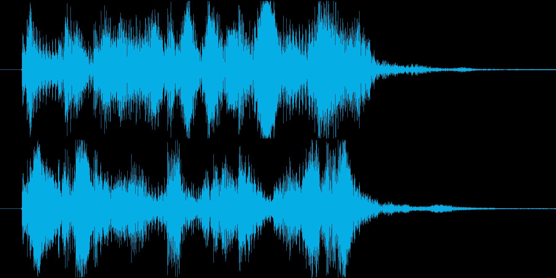ジングル ゲームクリアの再生済みの波形