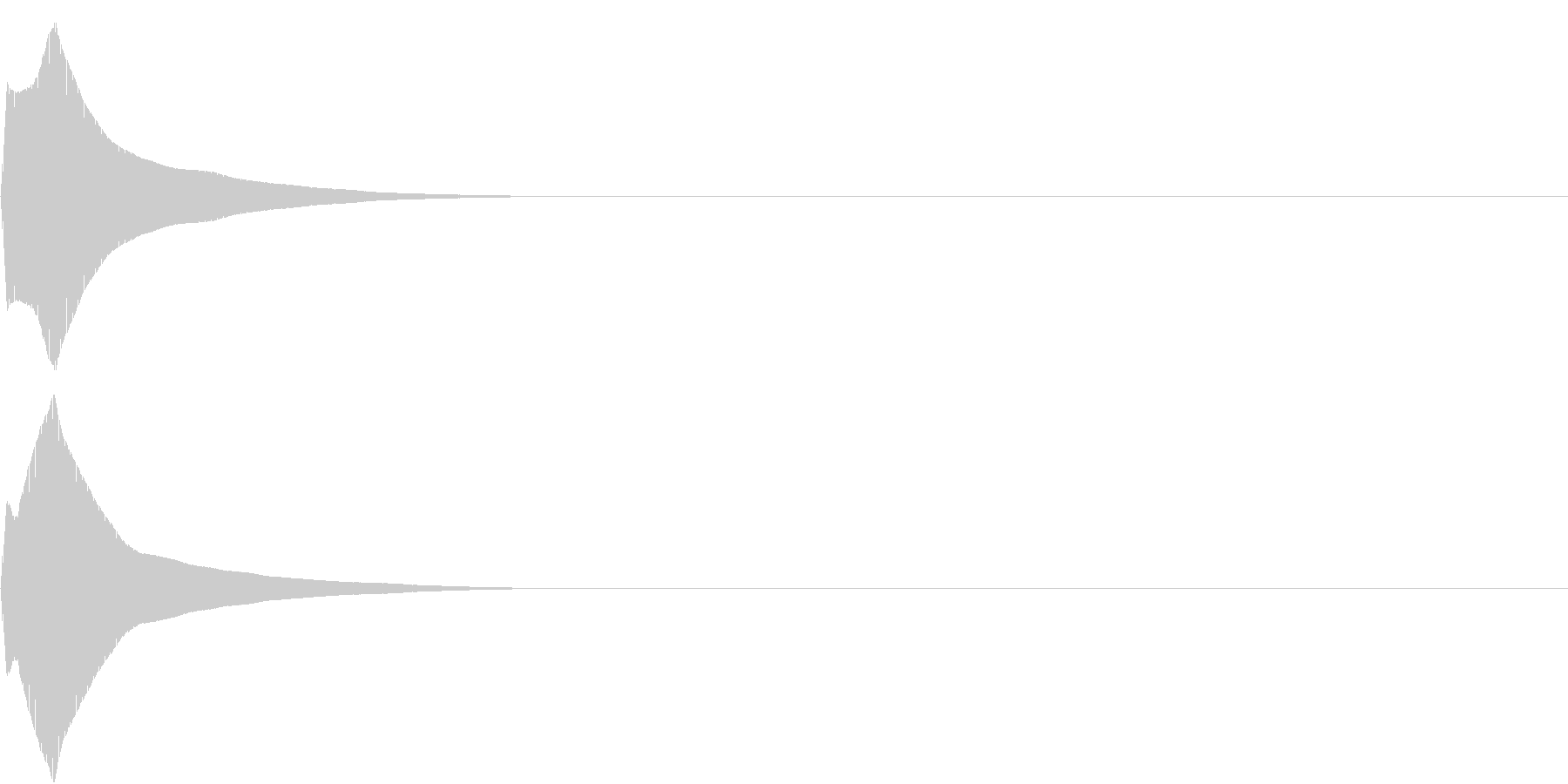 PureTouch アプリ用タッチ音32の未再生の波形