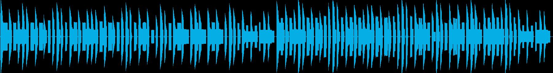 ほのぼの陽気なファミコン風チップチューンの再生済みの波形