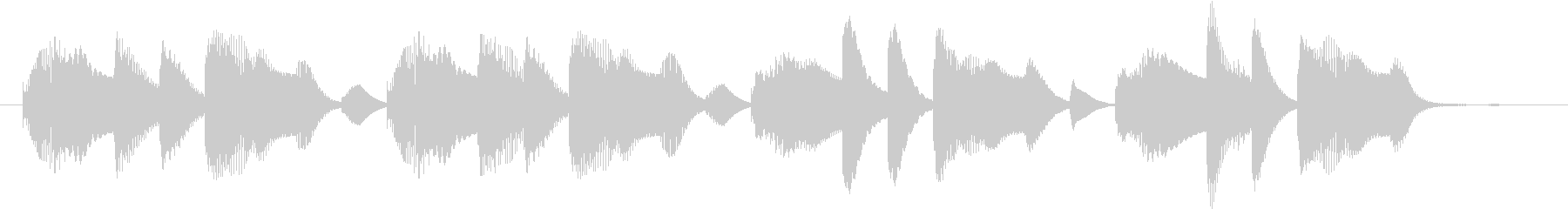 木琴で作ったほのぼのとしたジングルの未再生の波形