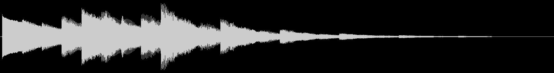 ベルの静かな場面転回音6の未再生の波形