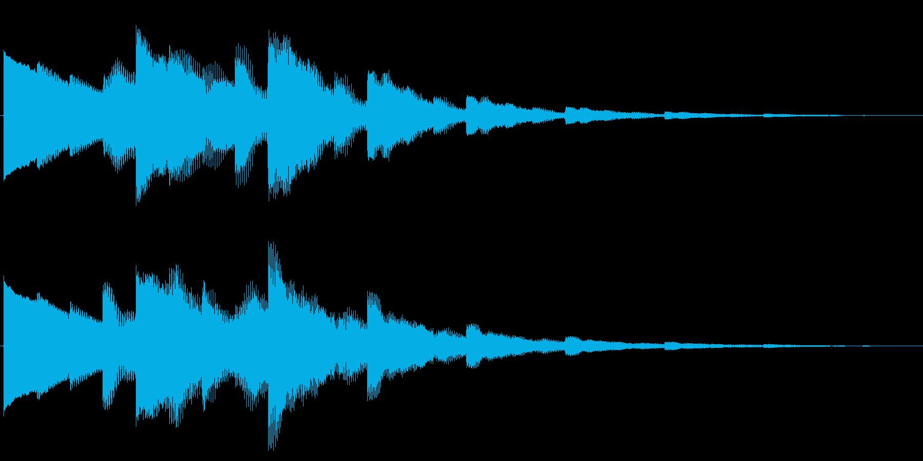 ベルの静かな場面転回音6の再生済みの波形