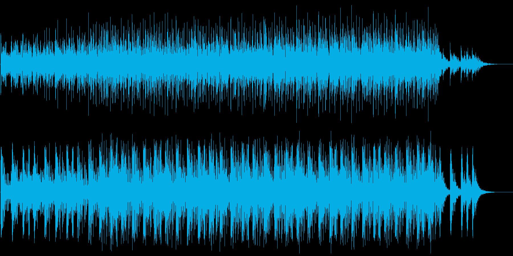 サイエンス系BGM(WAVファイル版)の再生済みの波形