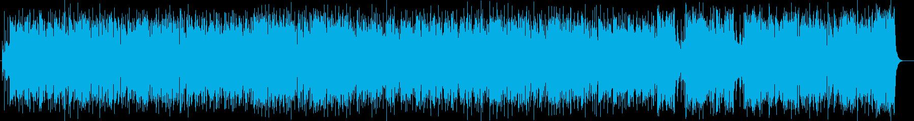 軽快なリズムとシンセサイザーのポップスの再生済みの波形