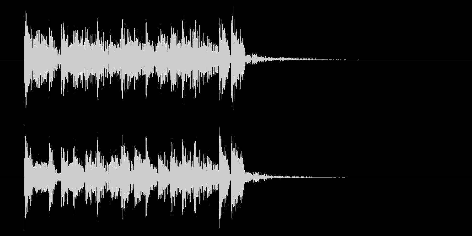 アップテンポで弾みのある短めの曲の未再生の波形