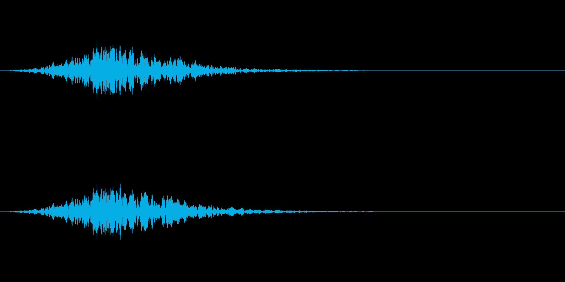 ヒュイーン(高速で移動する効果音)の再生済みの波形