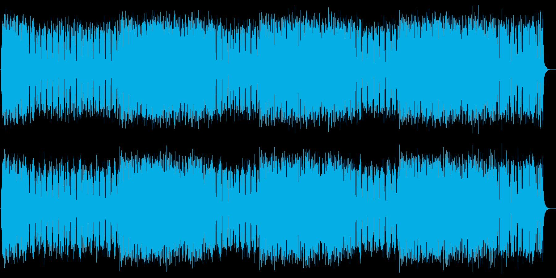 ハープとシンセが特徴のアップテンポポップの再生済みの波形