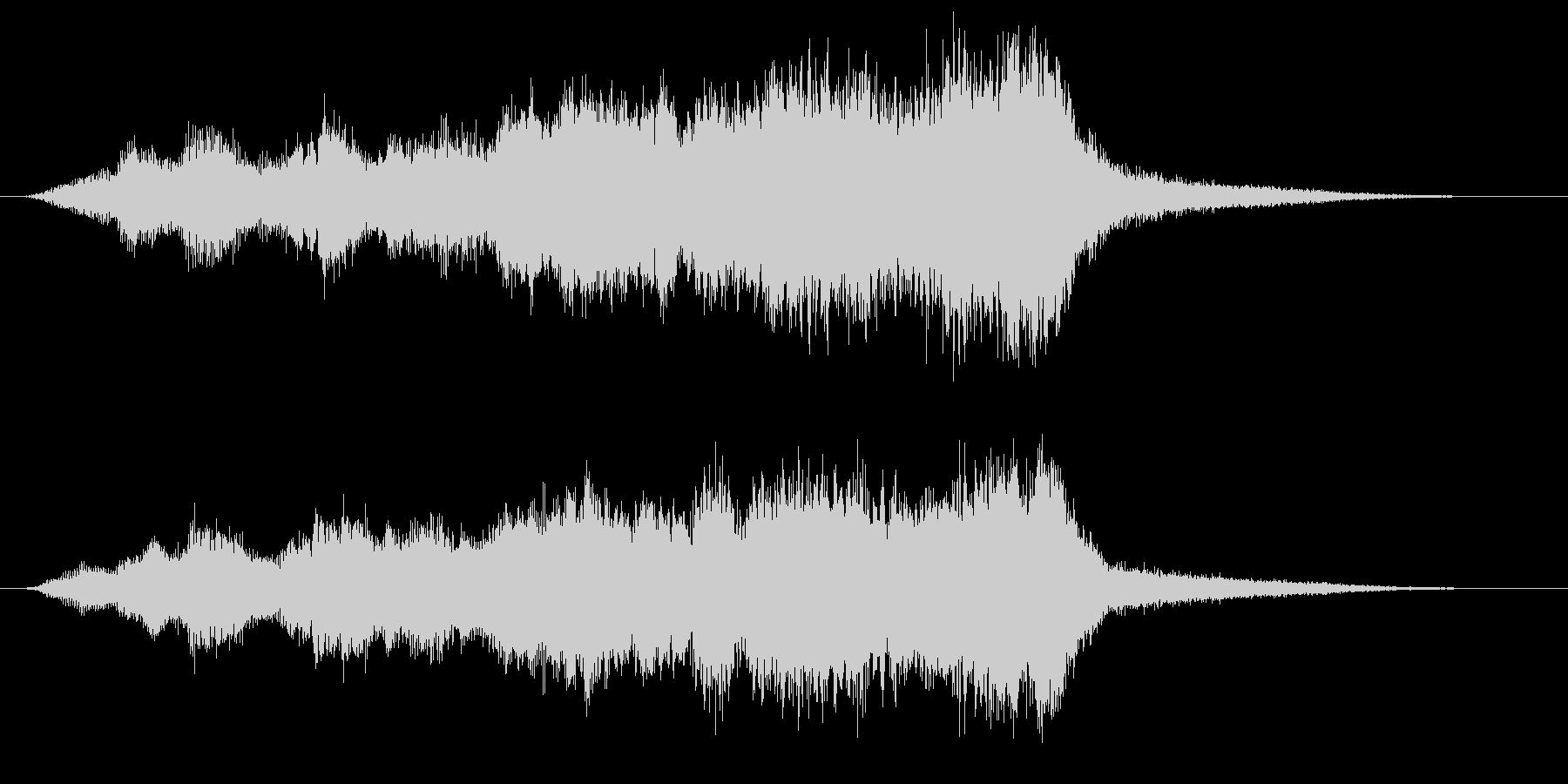ストリングスとハープの癒しのサウンドロゴの未再生の波形