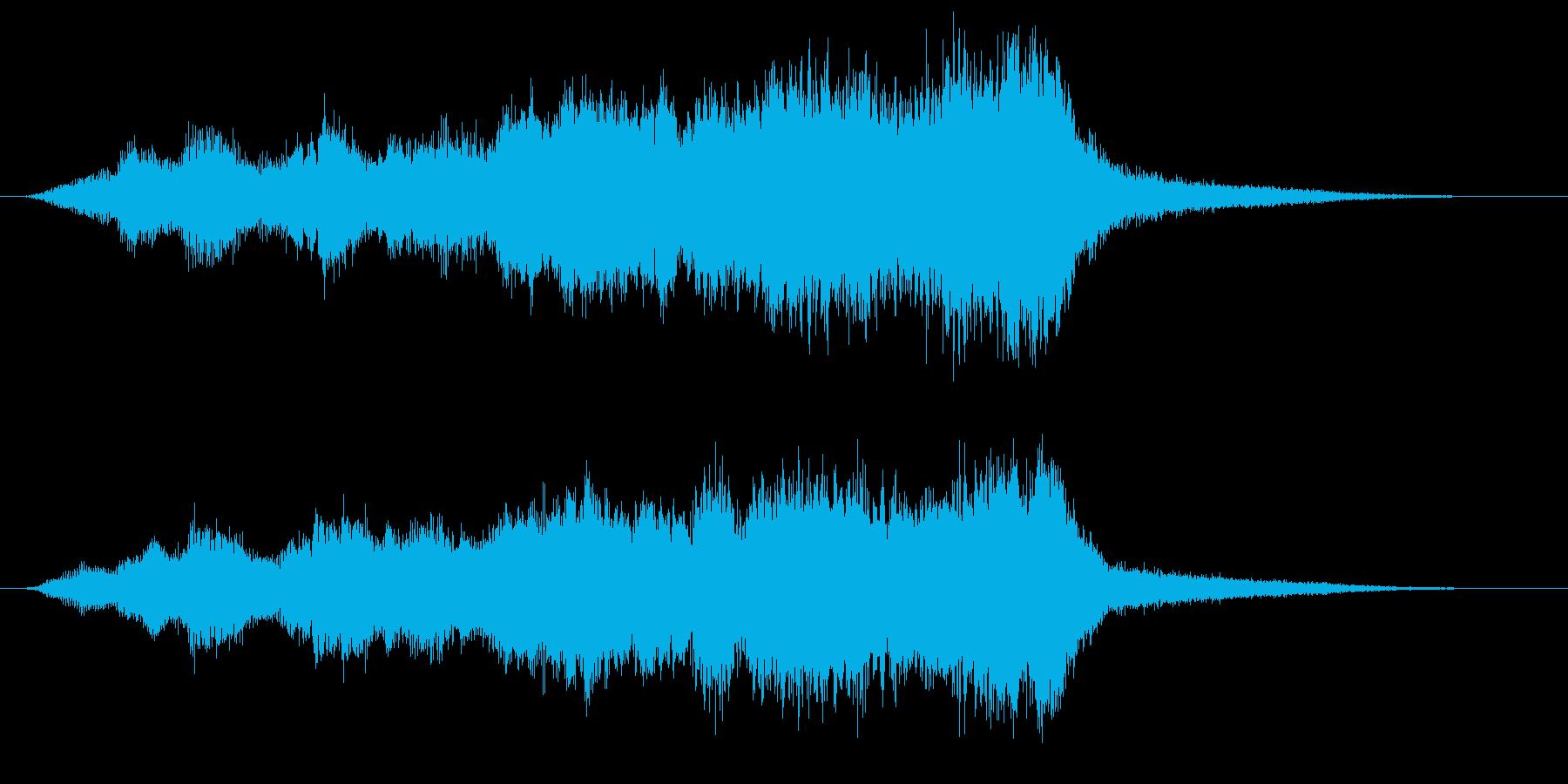 ストリングスとハープの癒しのサウンドロゴの再生済みの波形