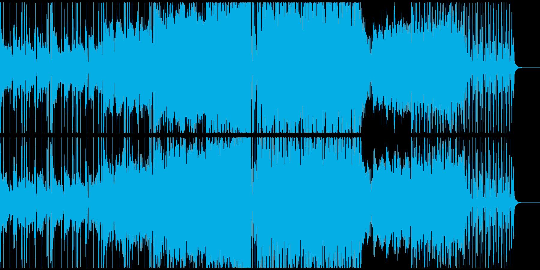 シンセがメインのパワフルな曲の再生済みの波形
