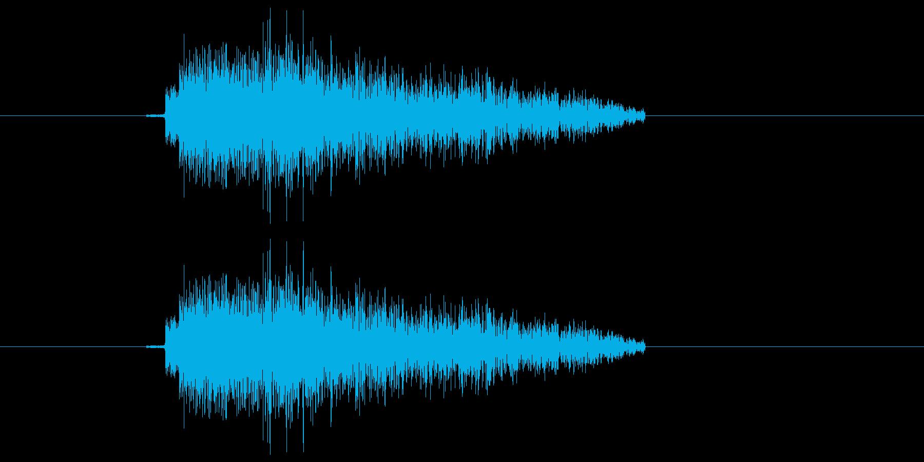 決定/ボタン押下音(読み込み完了)の再生済みの波形